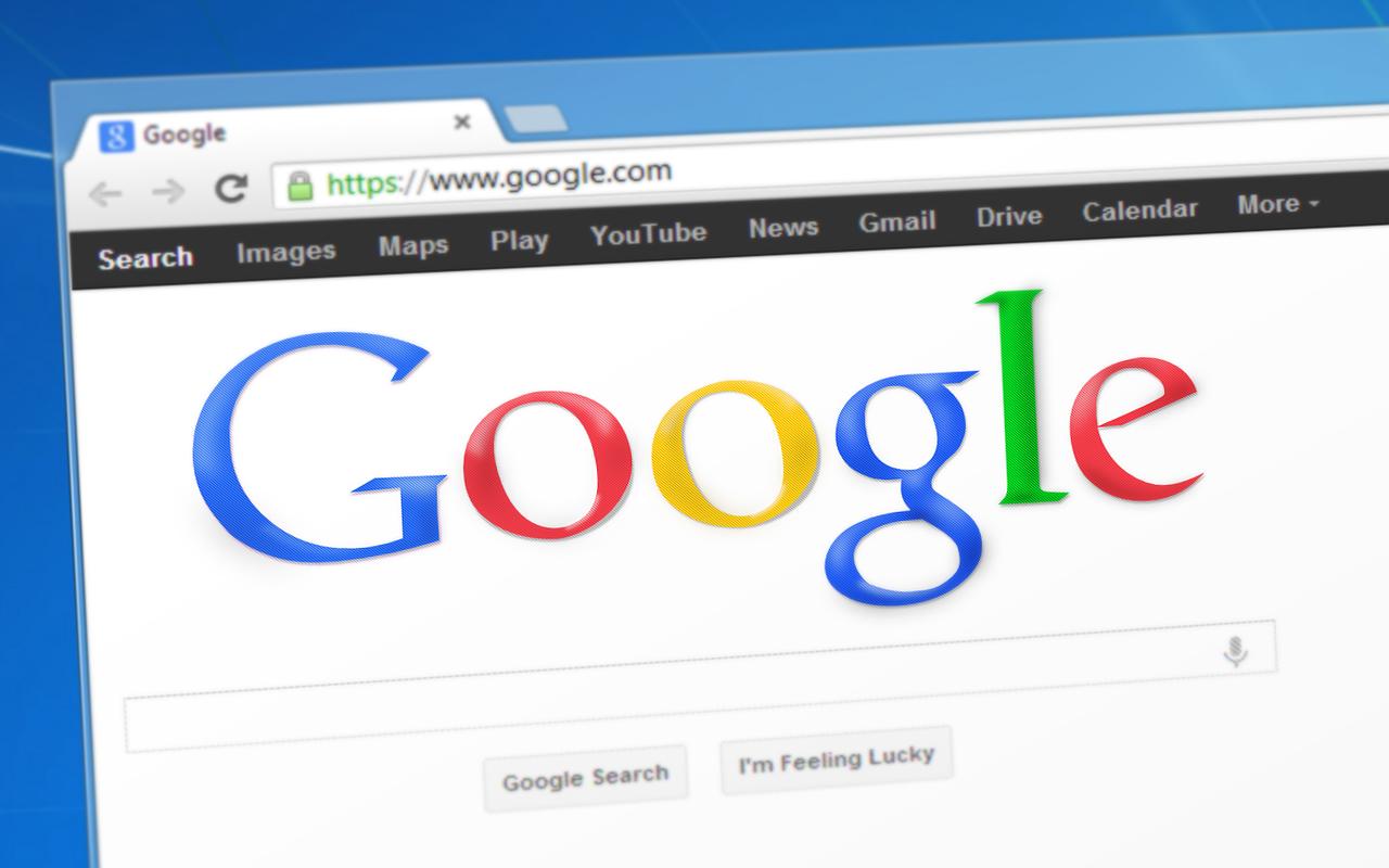 bilde av google i nettleser