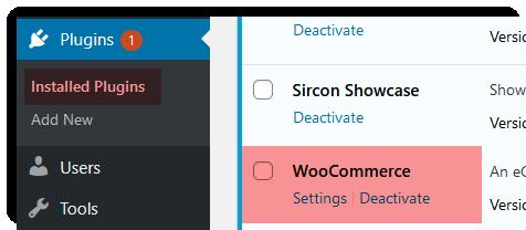 aktiver plugin for nettbutikk